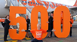 easyJet reaches milestone of 500 routes