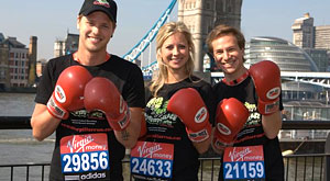 Warm weather for the London Marathon, Richard Branson's team are ready to go