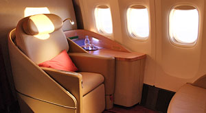 Discreetly introducing the La Première cabin…