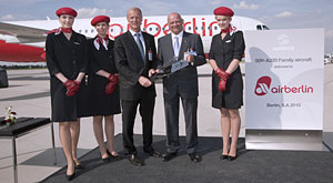 Air Berlin celebrates its 50th Airbus