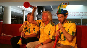 Virgin and Richard Branson welcomes the World Cup party