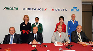 Alitalia joins Air France-KLM Group, Delta Air Lines in industry's leading trans-Atlantic joint venture
