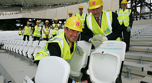 London Olympic Stadium's 2012th seat fitted by IOC President