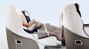 AF Business Class: a 2-metre long seat