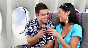 45 percent of passengers admit to flirting whilst flying - 95 percent want to join the mile high club