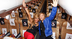 Fly to Ibiza this summer in the FLY ME I'M FAMOUS aircraft from Vueling and Cathy and David Guetta