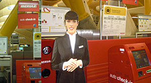 Virtual Check-in agents debut at Iberia´s T4 hub at Madrid-Barajas airport