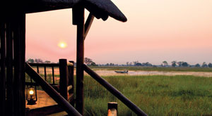 New glass fronted tents at Orient-Express safaris in Botswana