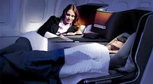 Cozy up in Lufthansa's new full-flat business class seats