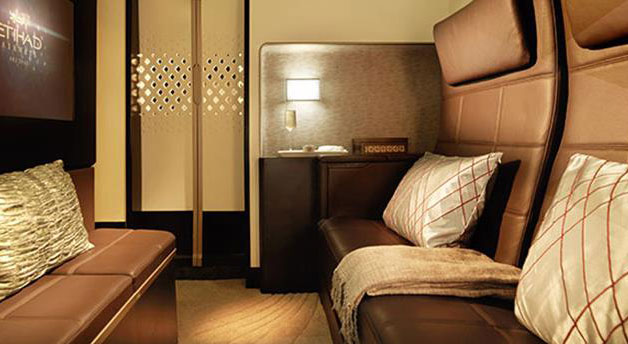 Its not an airline seat, it's The Residence by Etihad